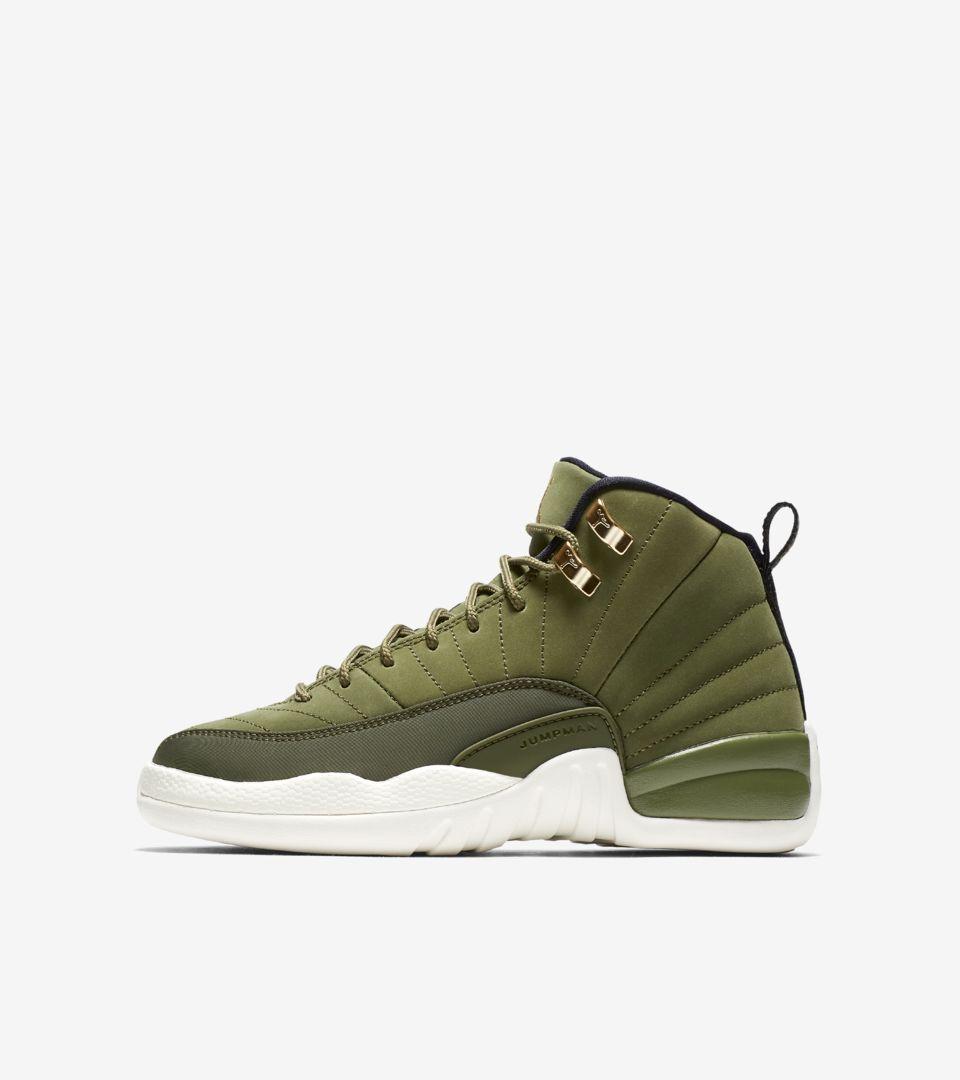 best sneakers 01096 de83d Air Jordan 12 Retro 'Olive Canvas & Metallic Gold' Release ...
