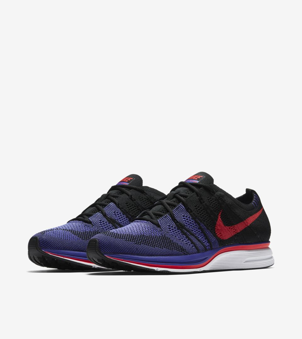 233f387035b8f Nike Flyknit Trainer  Siren Red   Persian Violet  Release Date. Nike ...