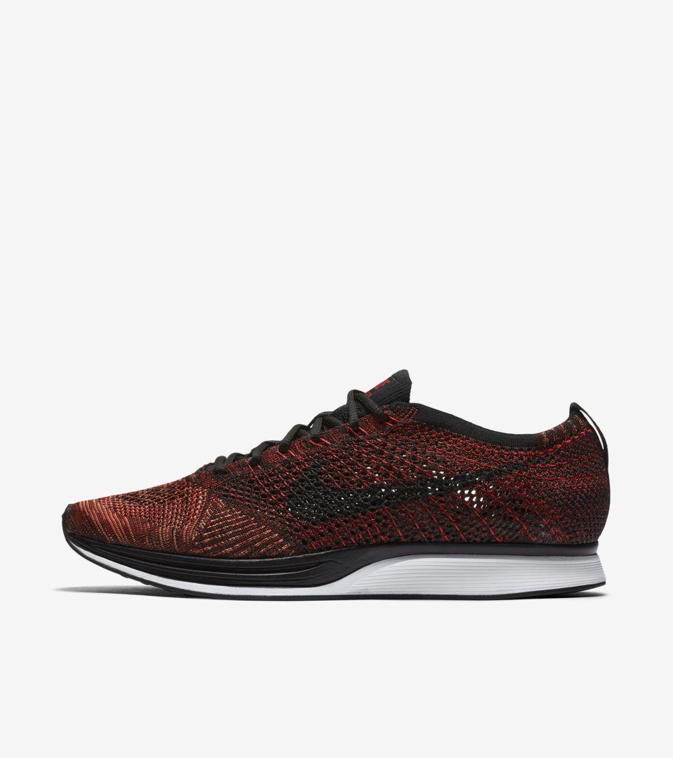 40967bbfae2f Nike Flyknit Racer  University Red   Black  . Nike+ SNKRS