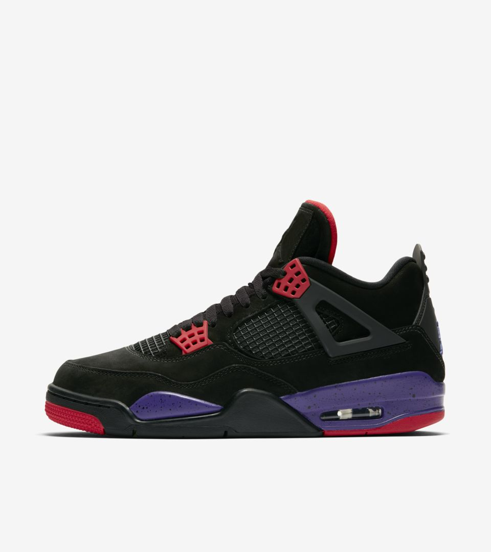 196a07781769 Air Jordan 4  Black   Court Purple  Release Date. Nike⁠+ SNKRS