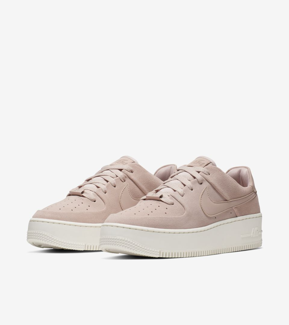 Nike Women s Air Force 1 Sage Low  Particle Beige   Phantom  Release ... 9bea62f552