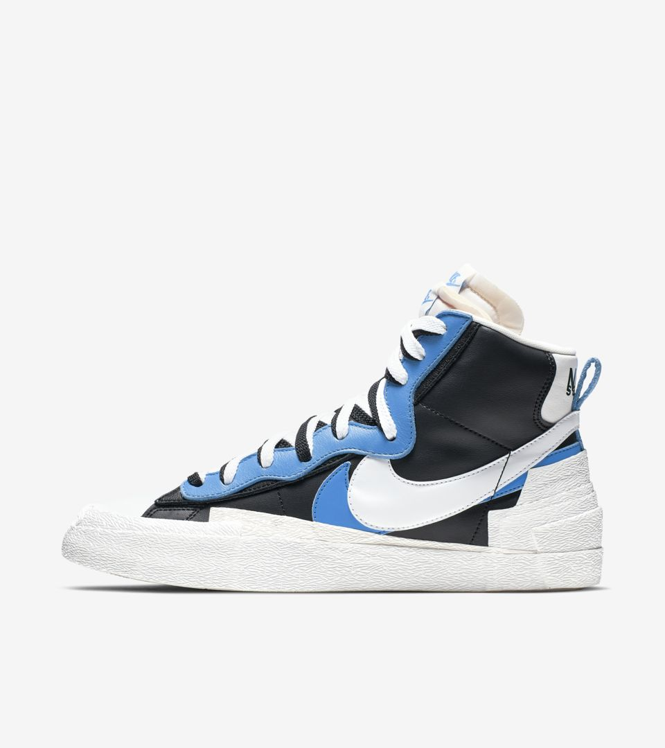 Nike x Sacai: Blazer Dunk BlackWhiteUniversity Blue 10 US