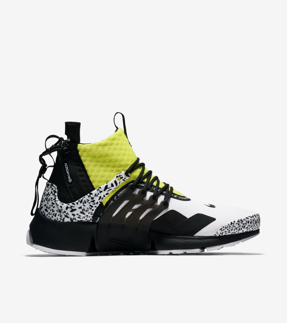 ce43f2f76a44 Air Presto Mid Utility X Acronym  White   Black   Dynamic Yellow ...