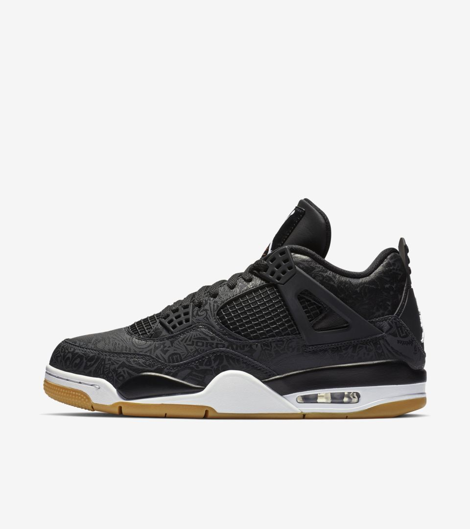 Air Jordan 4 'Black & Gum Light Brown & White' Release Date