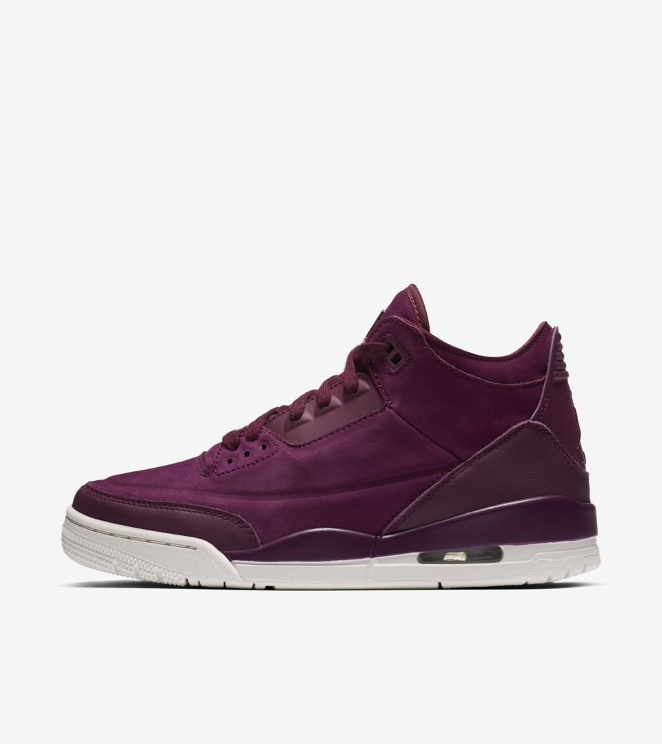 buy popular 6edb5 32763 Women's Air Jordan 3 'Bordeaux' Release Date. Nike⁠+ SNKRS