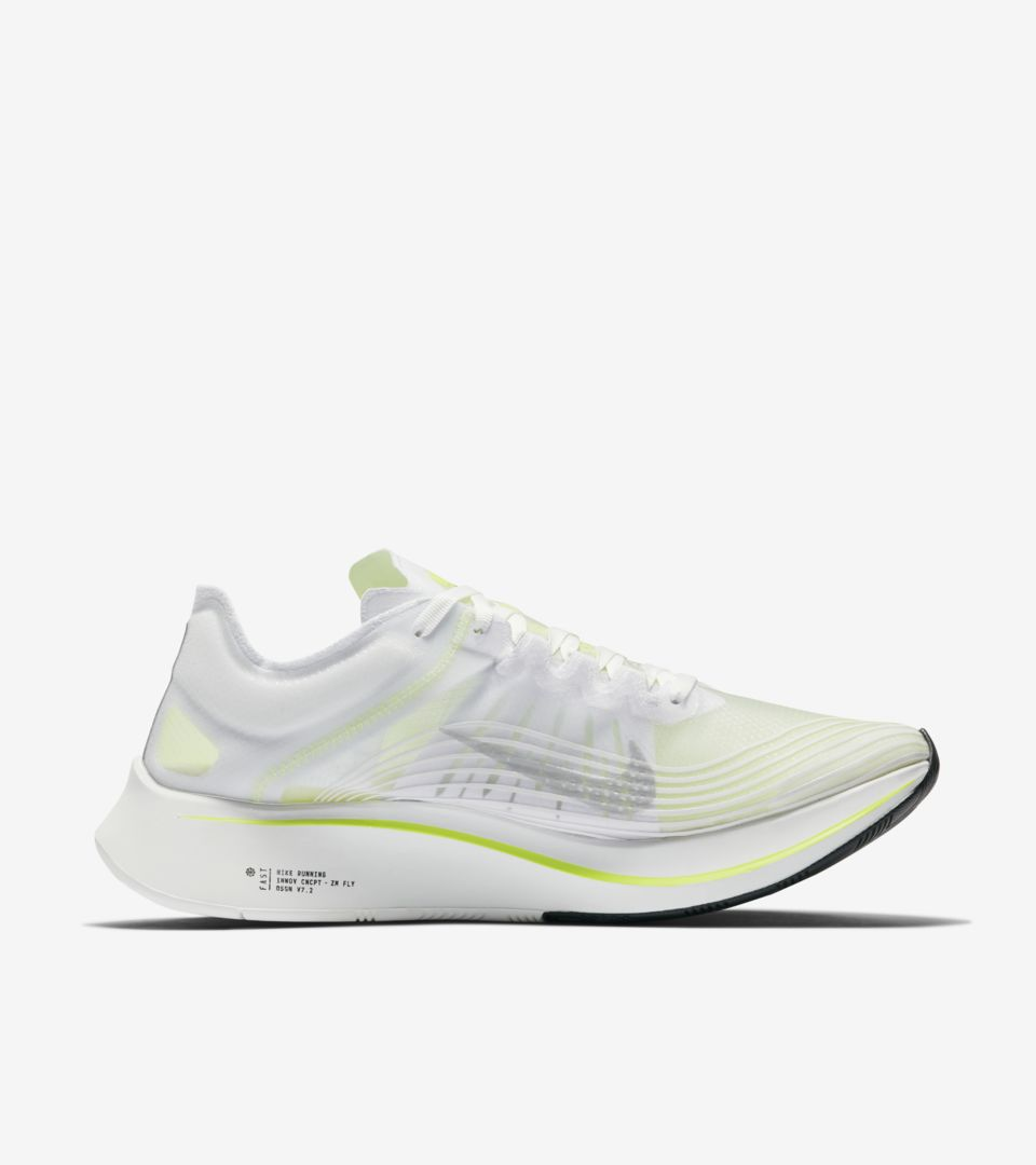 1bdfc58f7e34 Nike Zoom Fly SP  White   Volt Glow  Release Date. Nike⁠+ SNKRS
