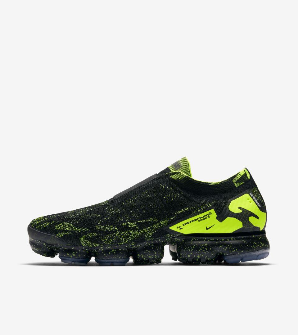 f7bc748c80b0 Nike Air Vapormax Moc 2 Acronym  Black   Volt  Release Date. Nike+ ...