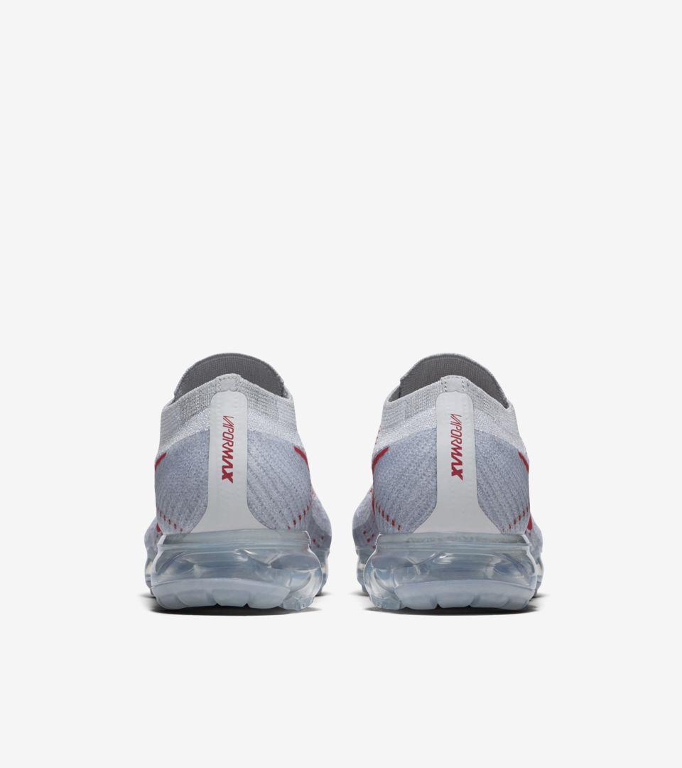 e42506470f Nike Air VaporMax 'Pure Platinum & University Red'. Nike+ Launch GB