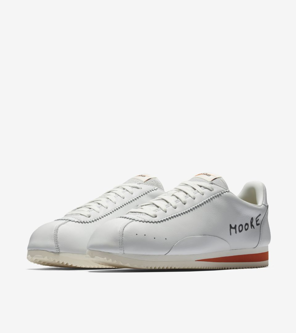 Nike Classic Cortez Kenny Moore  Off White  amp  Terra Orange ... 744b9eef6