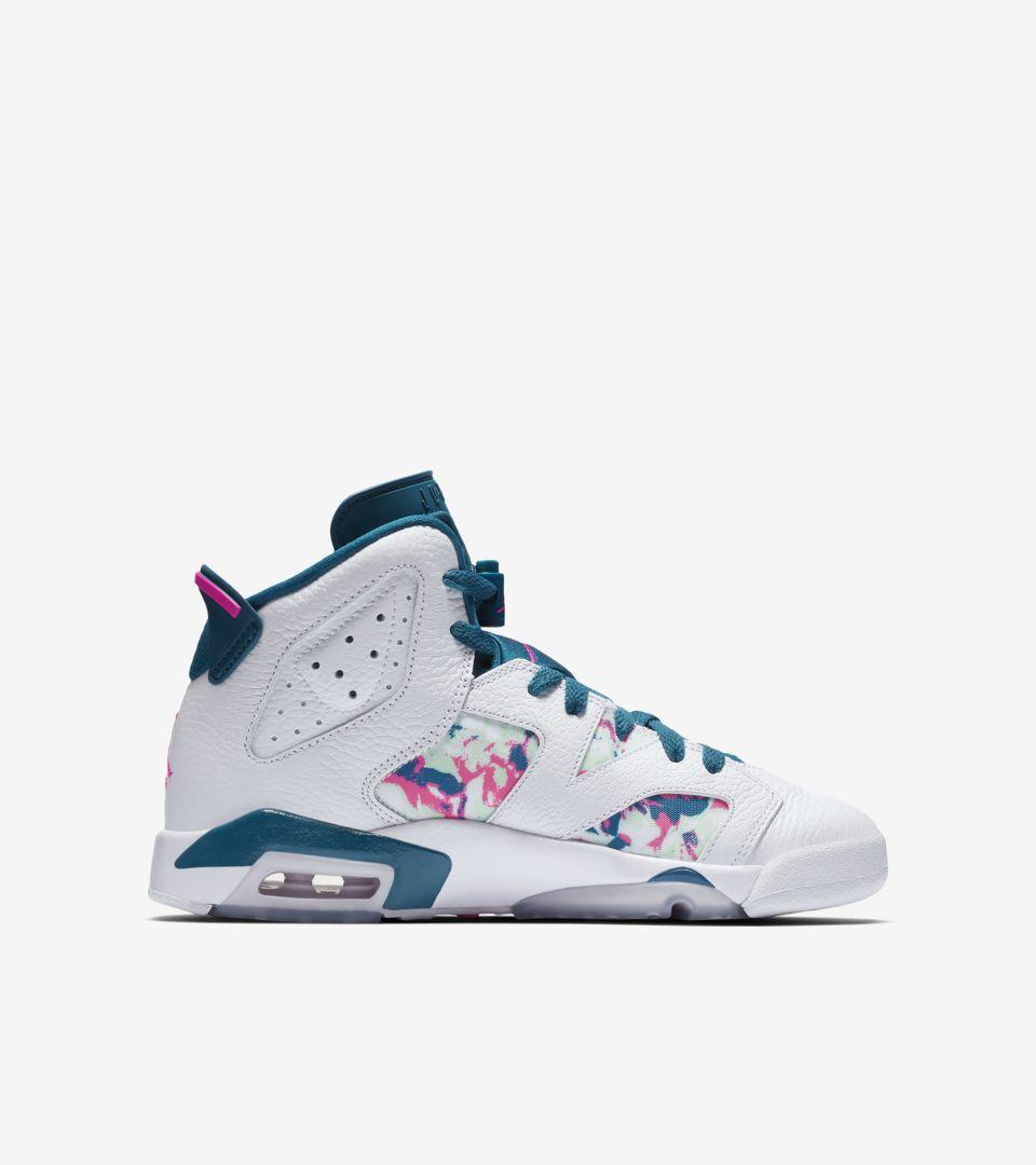 huge discount aba9e 383f4 Big Kids  Air Jordan 6  White   Green Abyss   Laser Fuchsia  Release Date.  Nike+ SNKRS