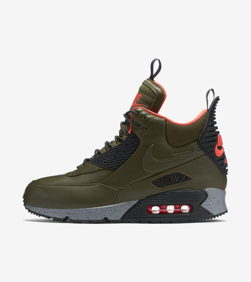 Nike Air Max 90 Sneakerboot 'Dark Green & Bright Crimson