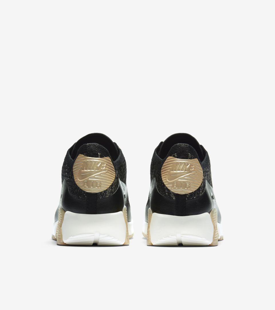 Women's Nike Air Max 90 Ultra 2.0 Flyknit Metallic 'Black