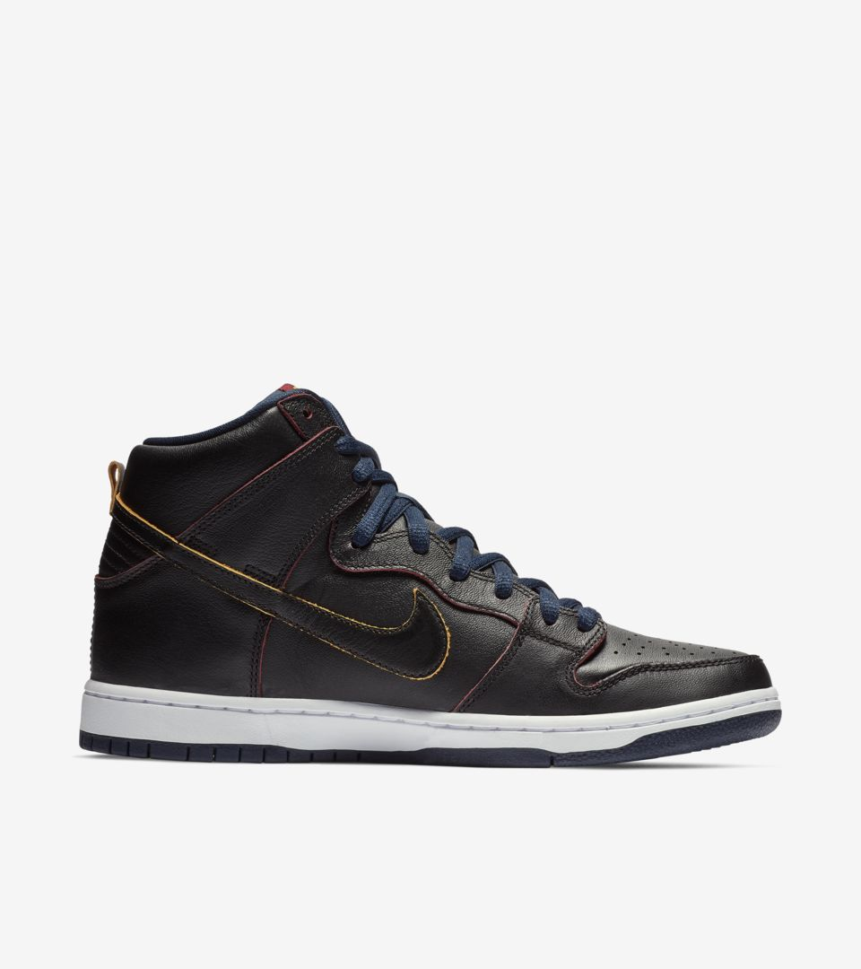 Nike SB Dunk High Pro NBA 'Black & College Navy & Team Red' Release Date