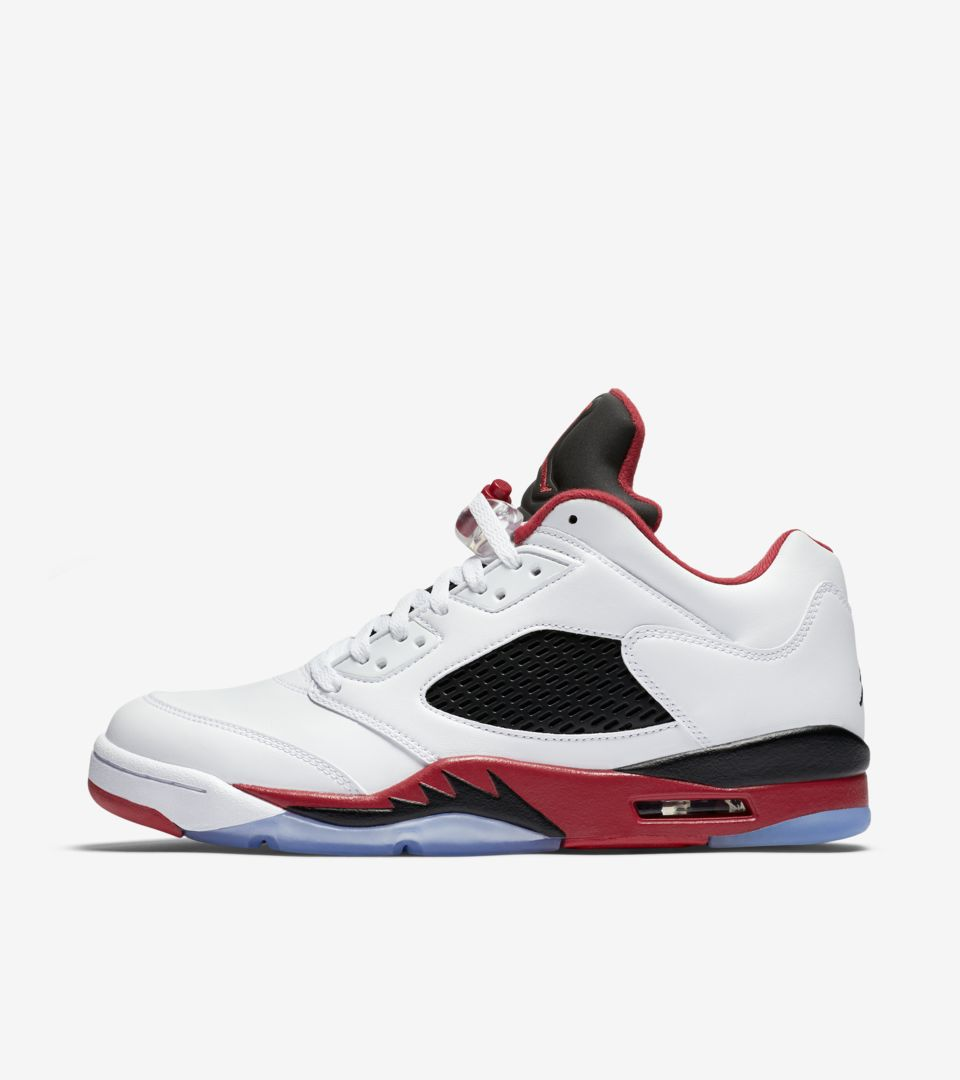 competitive price c7653 74311 Air Jordan 5 Retro Low 'Fire Red' Release Date. Nike⁠+ SNKRS