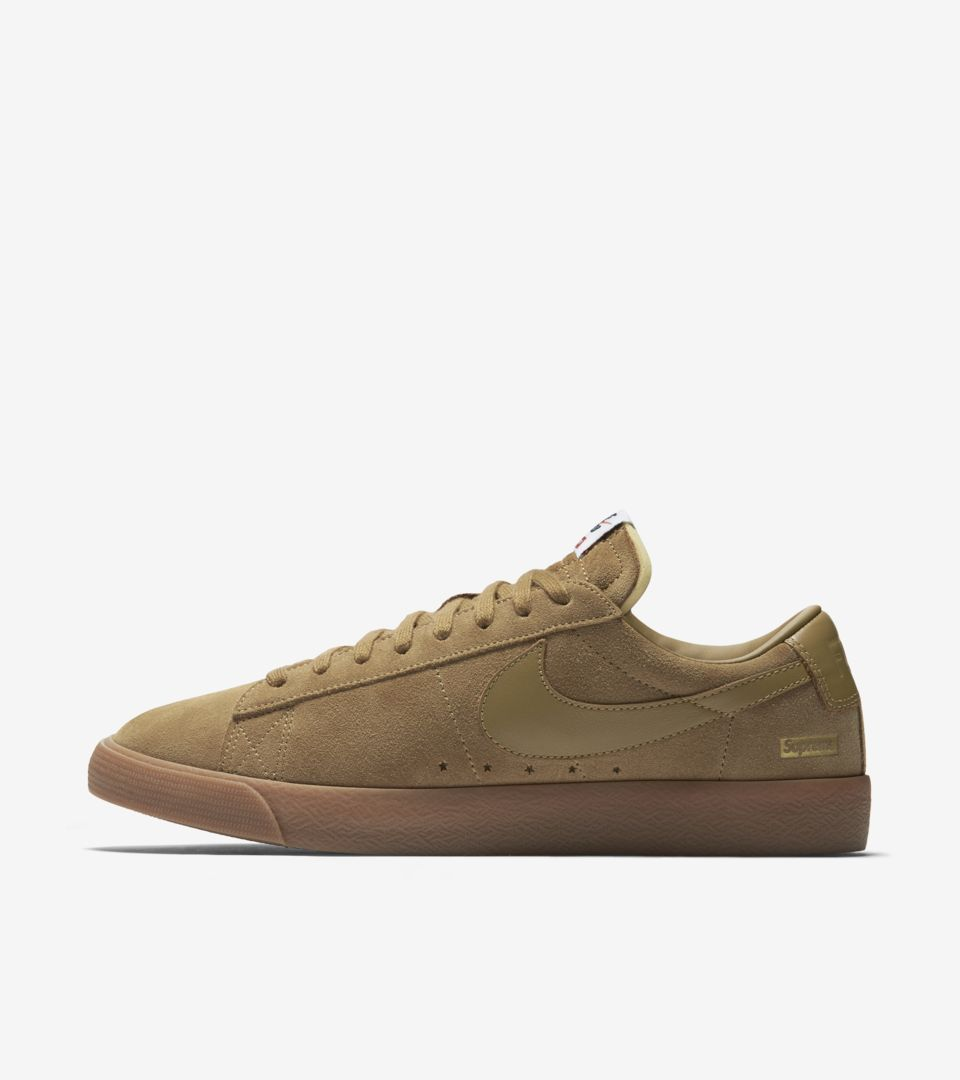 best service 031ba 1eea3 Nike Blazer Low GT x Supreme 'Golden Beige' Release Date ...