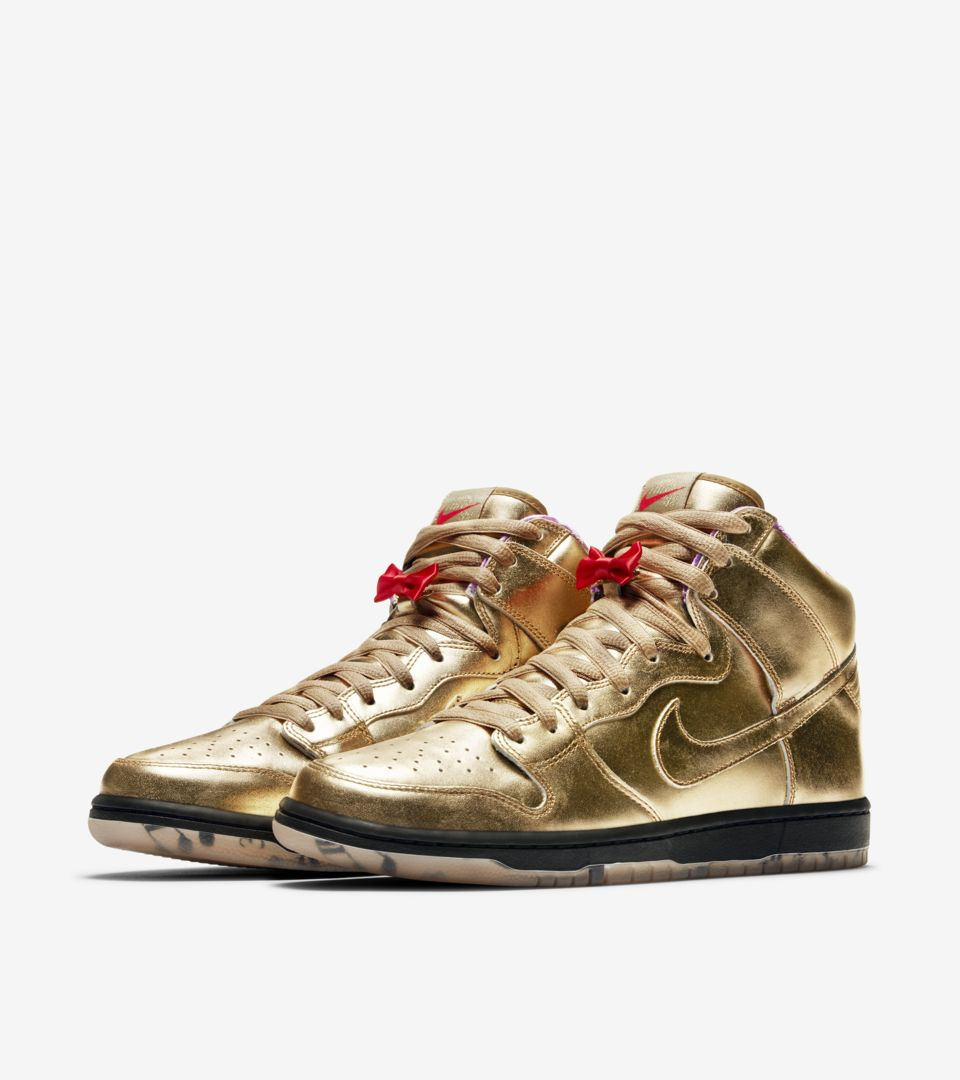 d03007d548cb Nike SB Dunk High x Humidity  Metallic Gold  Release Date.. Nike⁠+ SNKRS