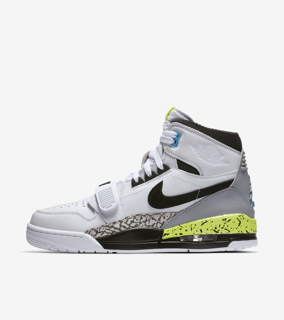 hot sale online 97f0e 71421 Air Jordan Legacy 312  White   Black   Volt  ...