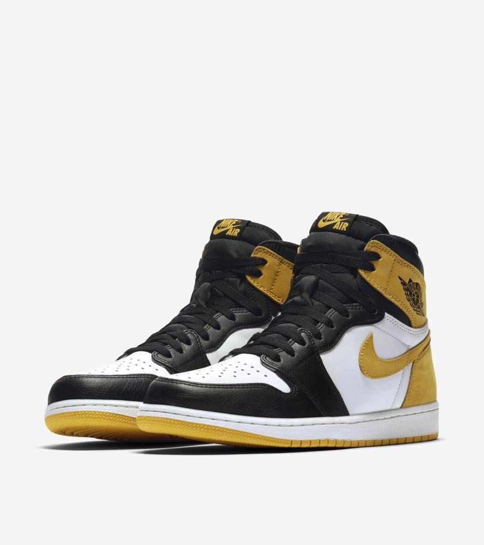 best prices dirt cheap 2018 sneakers Air Jordan 1 'Summit White & Yellow Ochre & Black ...