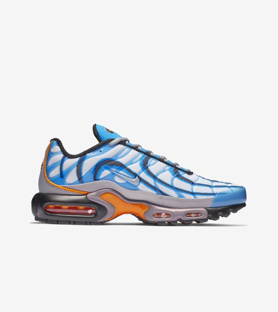 online store 837fb 4b07a Air Max Plus Premium 'Photo Blue & Orange Peel & Wolf Grey ...