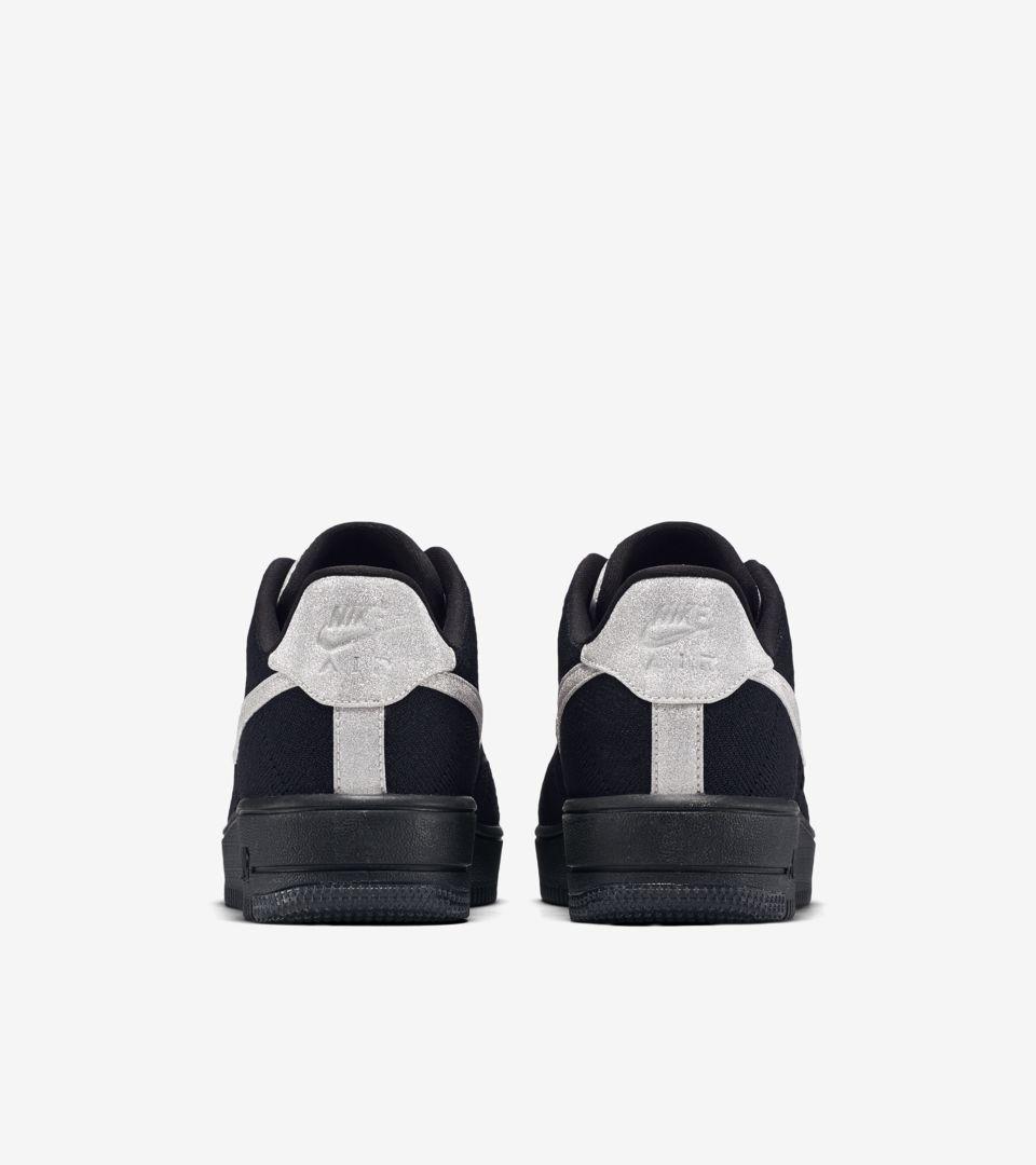 best website d1150 4b77e Nike Air Force 1 Ultra Flyknit Low 'Black & Metallic Silver ...