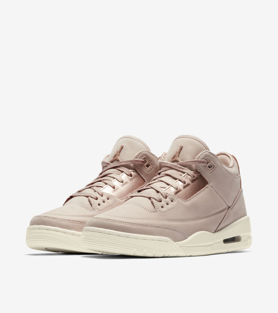 b0e11a087ac8 Women s Air Jordan 3 Retro  Particle Beige   Metallic Red Bronze ...
