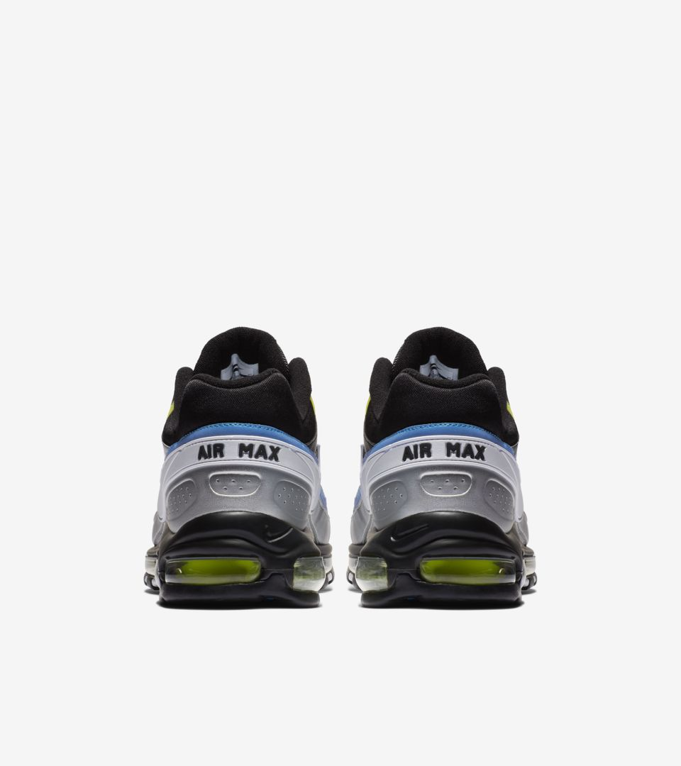 ce2f0a014f Nike Air Max 97 BW Black Metallic Silver Atlantic Blue Release ...