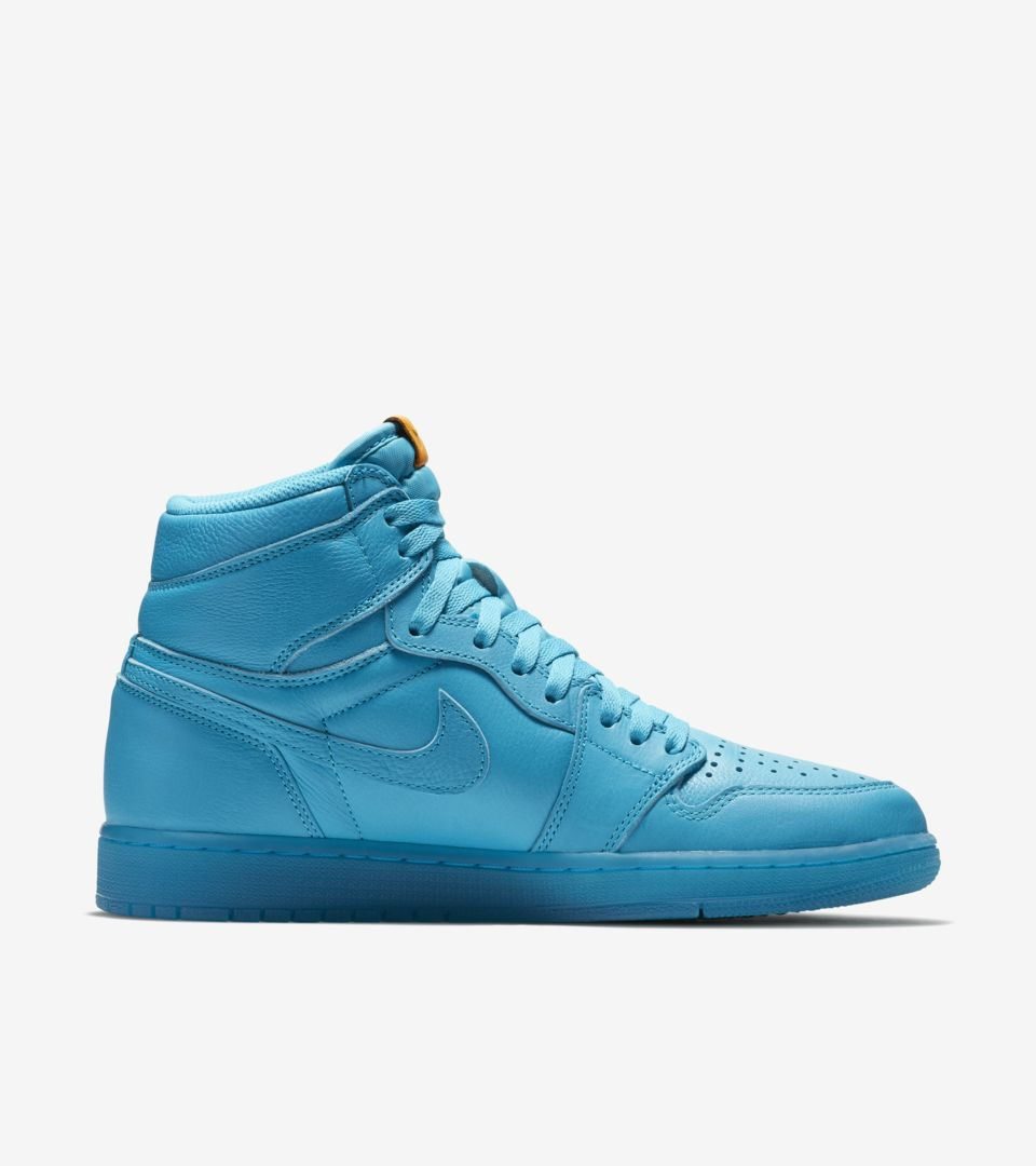 d100b5141b07 Air Jordan 1 High Gatorade  Cool Blue  Release Date. Nike⁠+ SNKRS