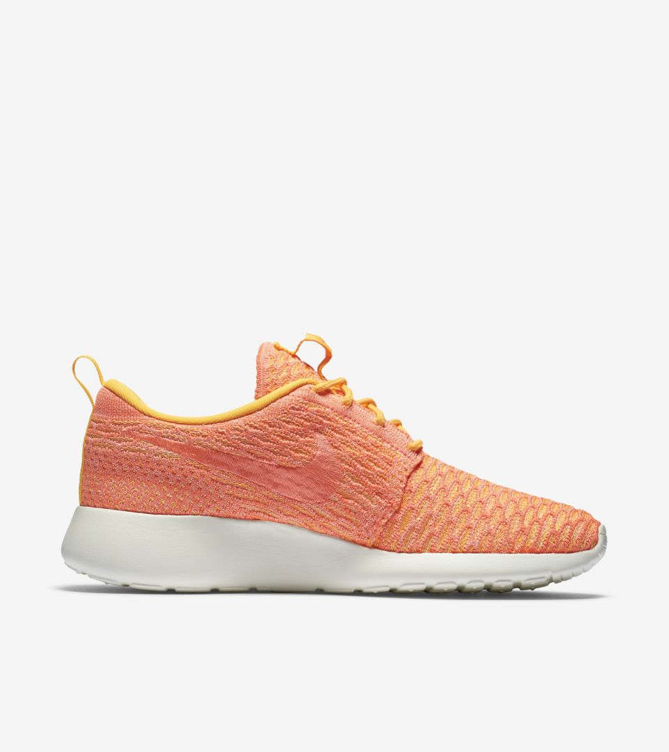 c994a3b6c60f Women s Nike Roshe One Flyknit  Laser Orange . Nike+ SNKRS