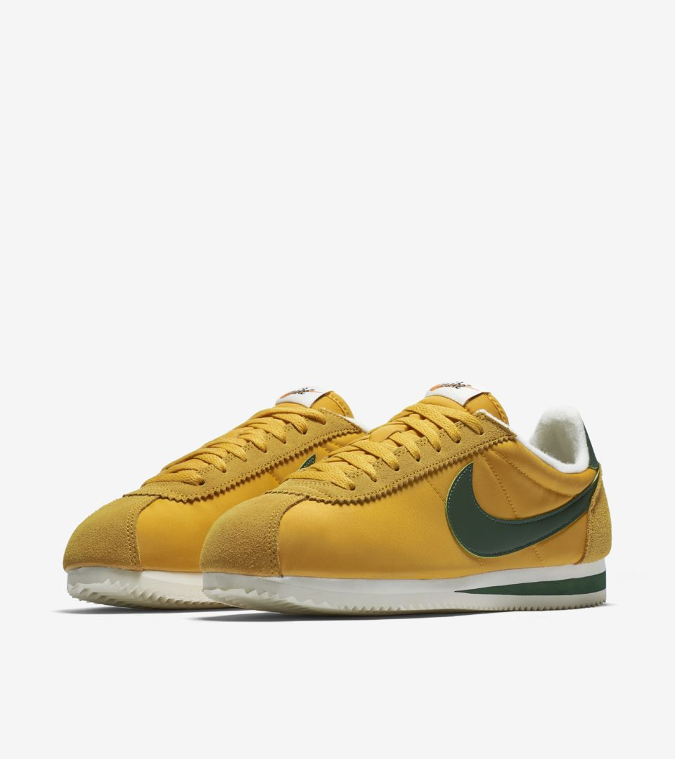 the latest 78cce 52160 discount home nike cortez satin nylon trainers in mustard yellow.  image.alternatetext 41e7c 7696e  best price classic cortez nylon dac06 1b2f1
