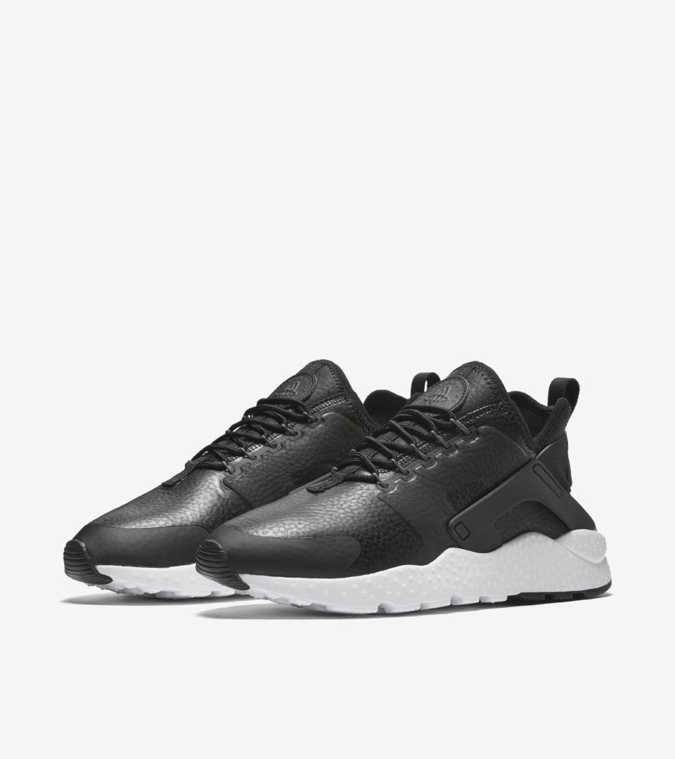 6eeb11f1dca2 Women s Nike Air Huarache Run Ultra  Black  amp  White . Nike⁠+ ...