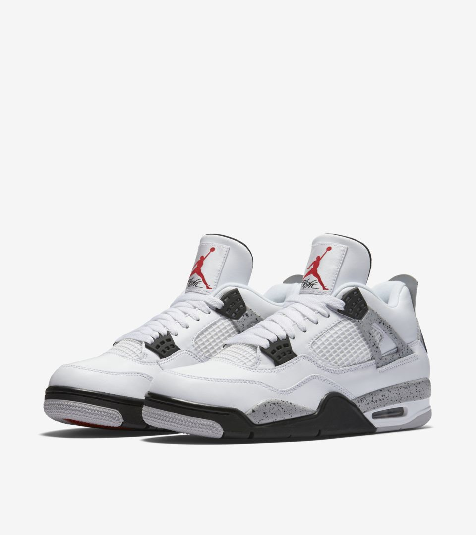 6e4f8be3012d80 Air Jordan 4 Retro  White Cement Grey  Release Date. Nike⁠+ SNKRS