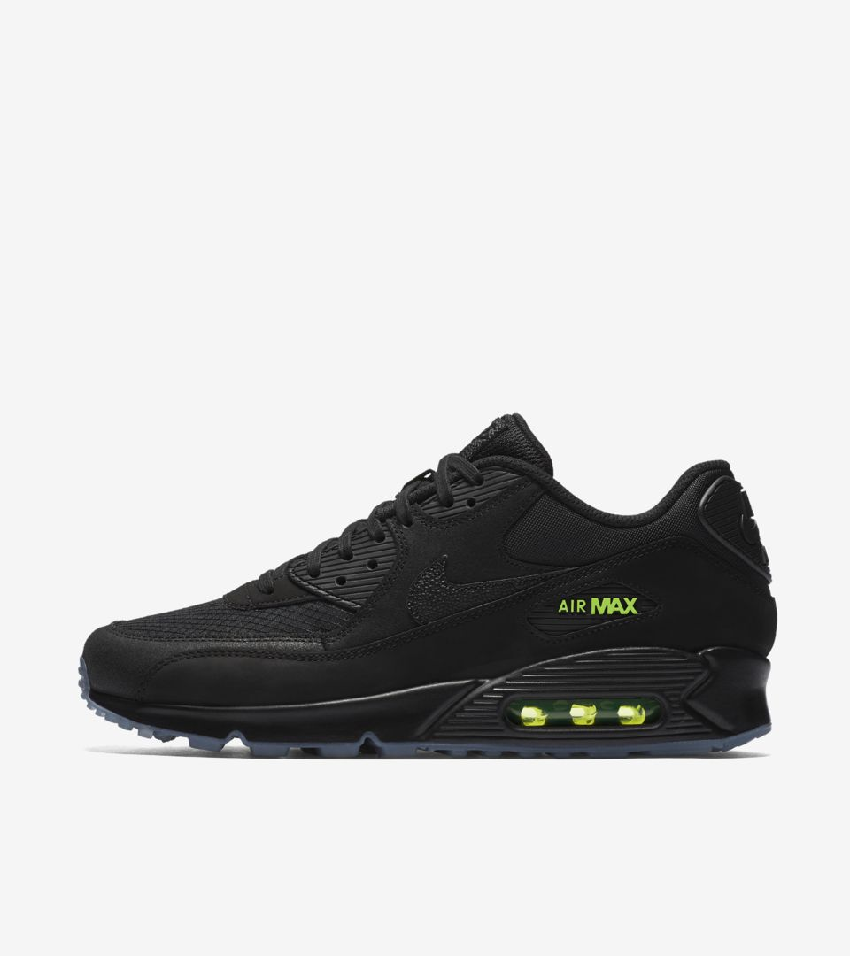 new concept 11e79 0980b Nike Air Max 90 'Black & Volt' Release Date. Nike⁠+ SNKRS