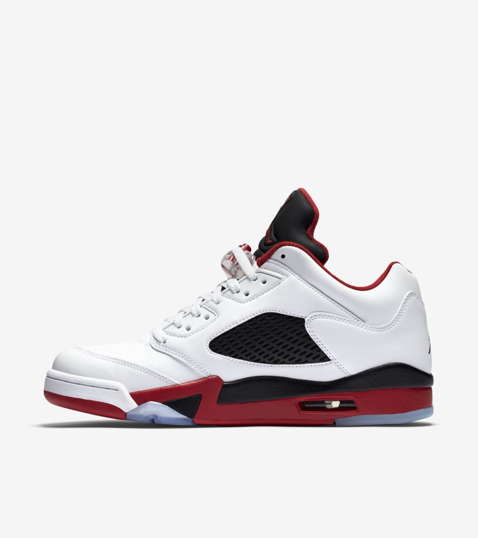 c96e3839d9df Air Jordan 5 Retro Low  Fire Red  Release Date. Nike⁠+ SNKRS