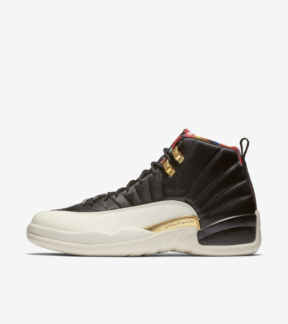 Air Jordan 12 'Black & Metallic Gold' True Red' Release Date