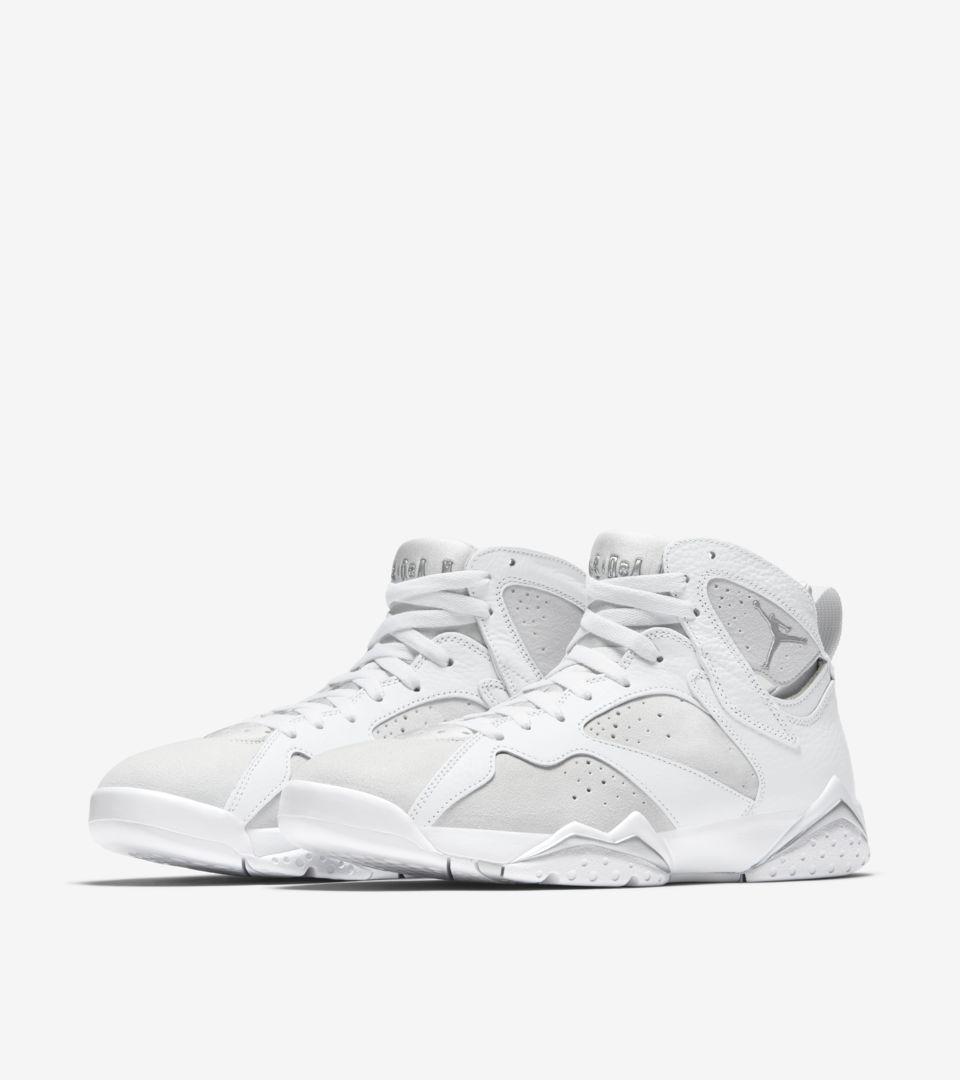 20bec1ddbc39 Air Jordan 7 Retro  White   Pure Platinum  Release Date. Nike+ SNKRS