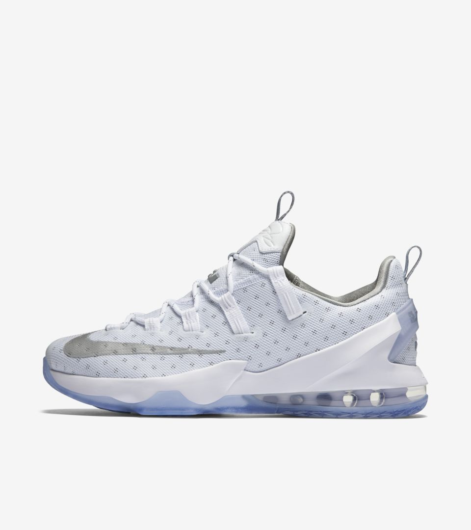 official photos 863c2 d74f9 Nike Lebron 13 Low 'White Silver' Release Date. Nike⁠+ SNKRS