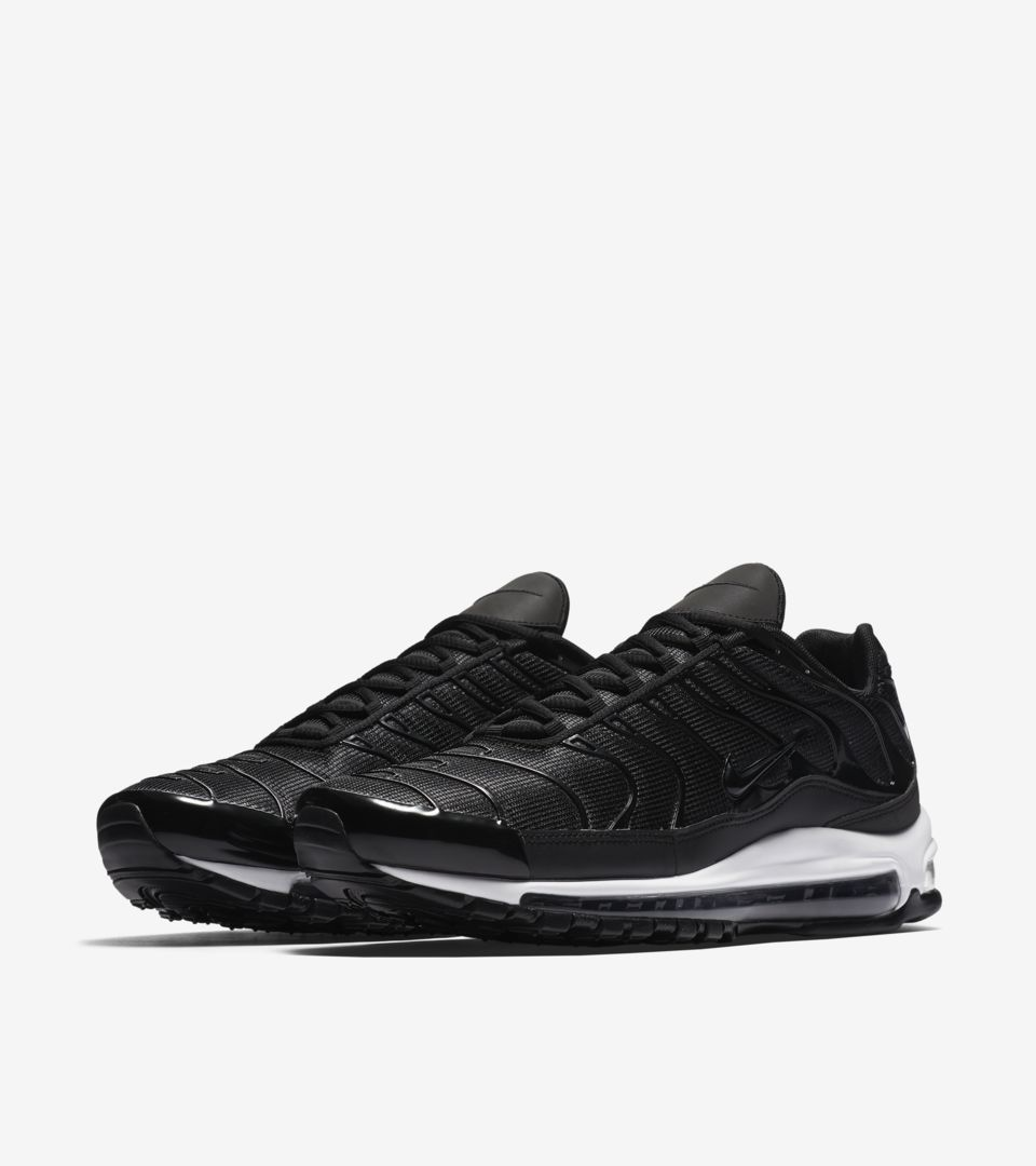 Nike Air Max 97 Plus  Black   White  Release Date. Nike⁠+ SNKRS 27d8a79a6