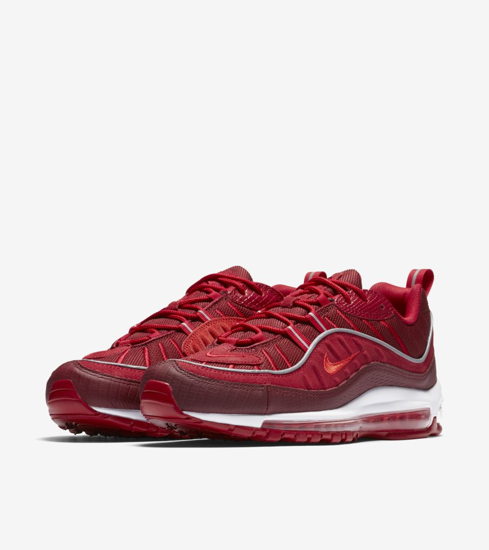 on sale d2595 e69ad Nike Air Max 98  Team Red  amp  Habanero Red  Release Date. Nike⁠+ ...