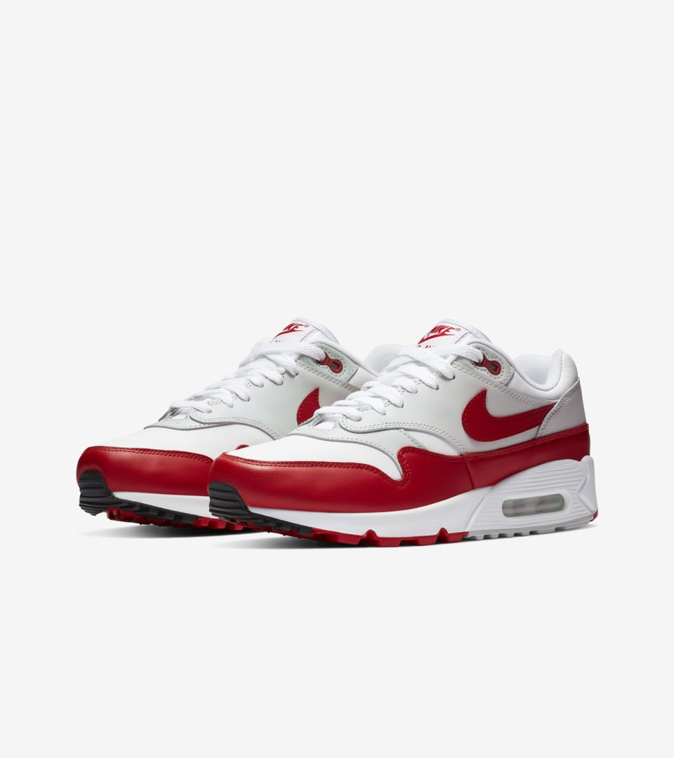 Women s Air Max 90   1  White   University Red  Release Date. Nike+ ... 743440b14