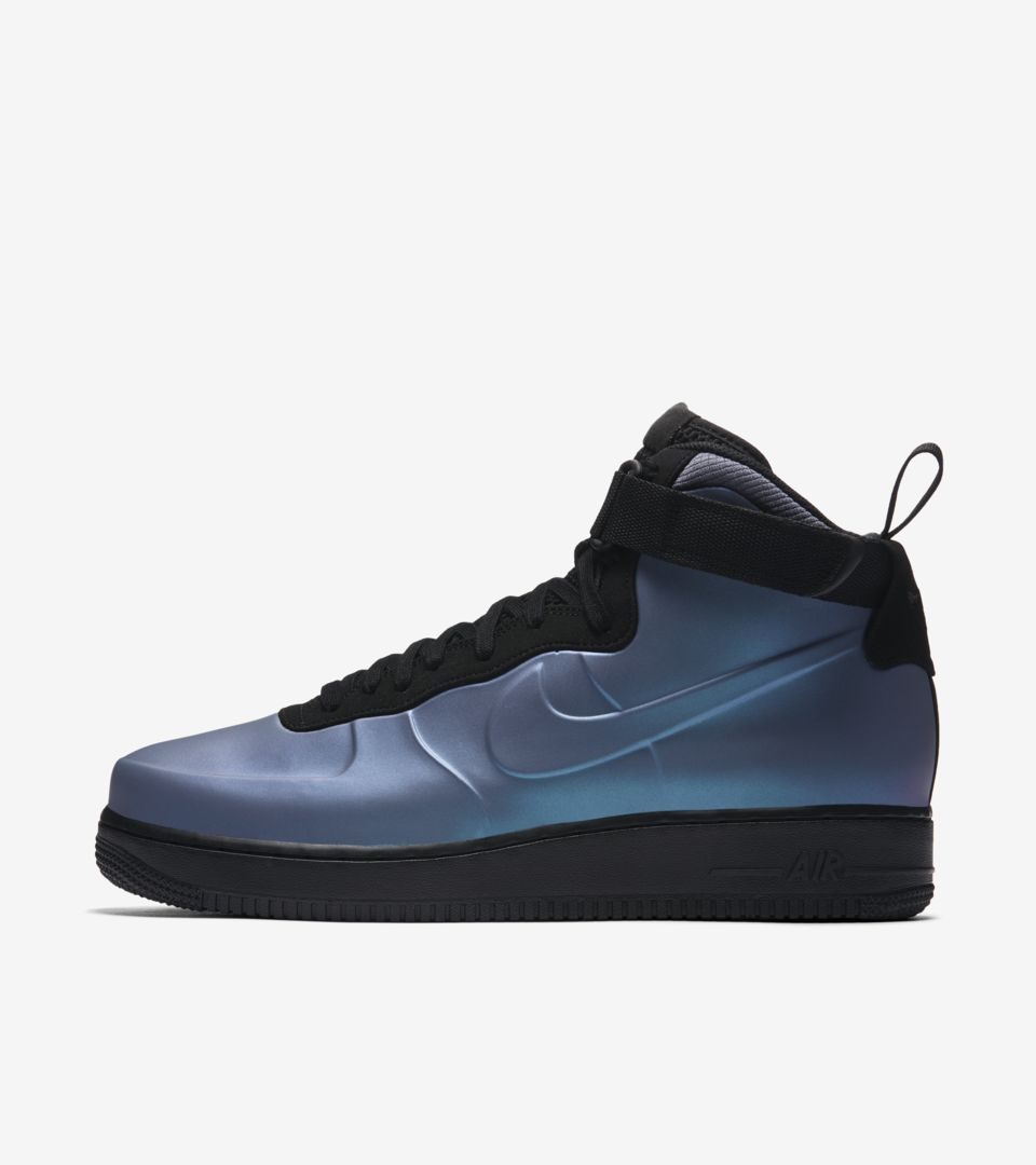 750b9e42f6fd7 Nike Air Force 1 Foamposite Cup  Light Carbon   Black  Release Date ...