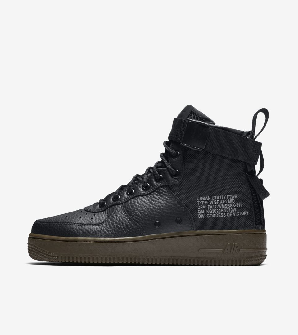 Nike SF AF1 Mid 'Black \u0026amp; Dark Hazel