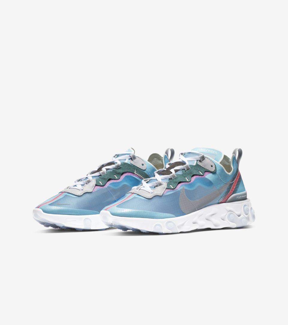 Nike React Element 87 'Royal Tint & Wolf Grey' Release Date