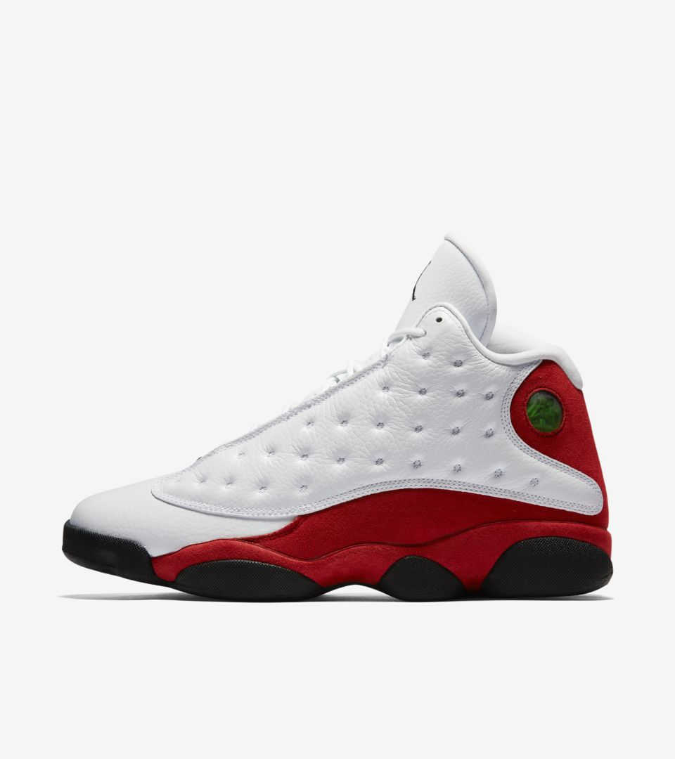 Air Jordan 13 Retro OG  White   Team Red . Nike⁠+ SNKRS 41ff2b014