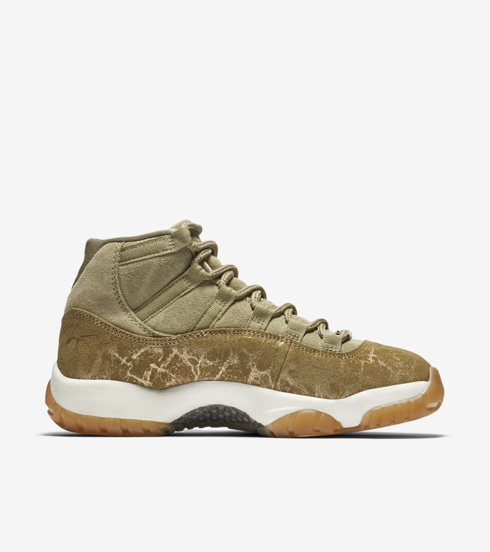 Women's Air Jordan 11 'Neutral Olive & Sail & Gum Light Brown' Release Date