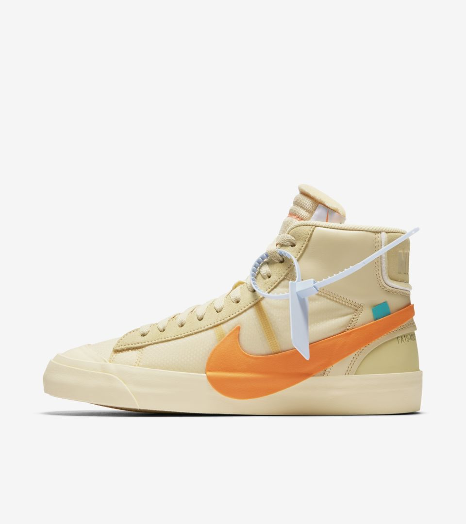 huge discount 67ebb 14c16 ... purchase the 10 nike blazer mid canvas pale vanilla total orange 32c69  0d09f