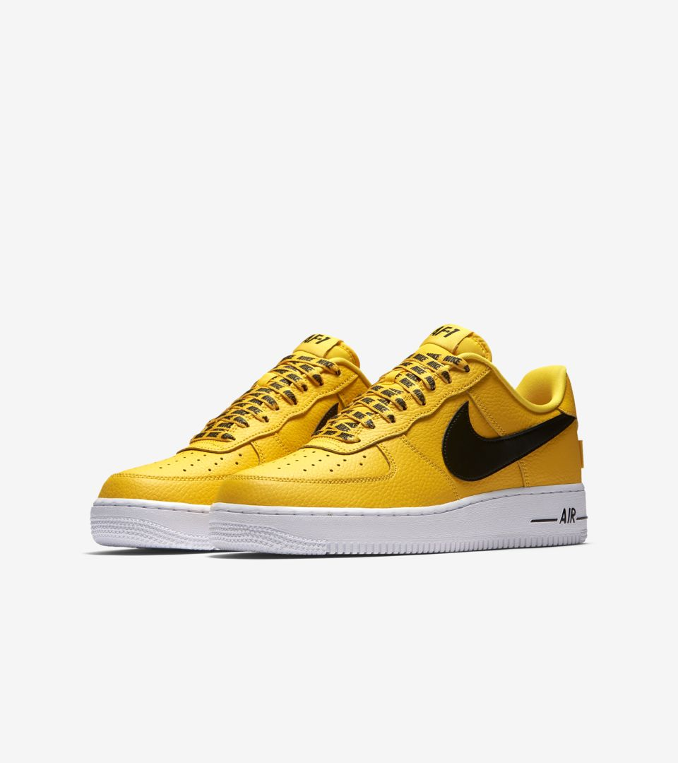 Nike AF-1 Low NBA 'Amarillo & Black & White' Release Date. Nike⁠+ SNKRS