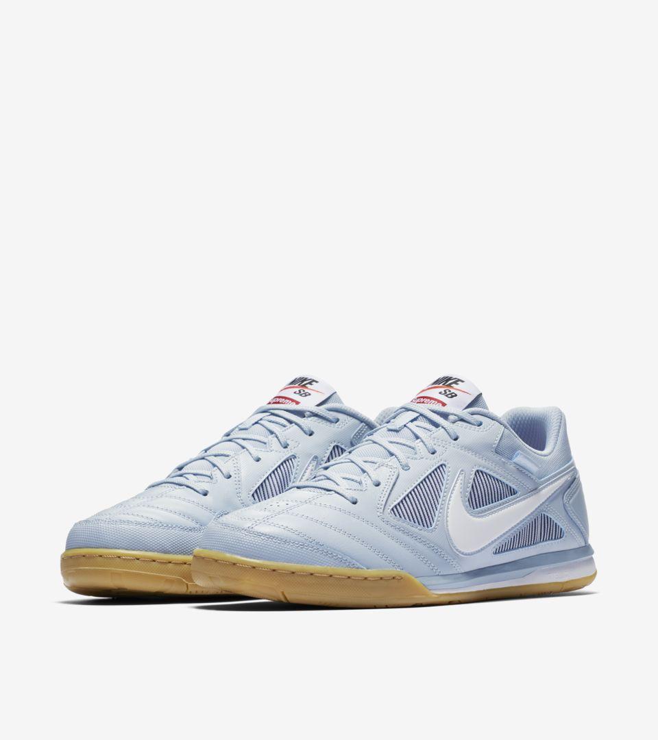 Nike SB Gato Qs Supreme 'Light Armory Blue & White' Release Date