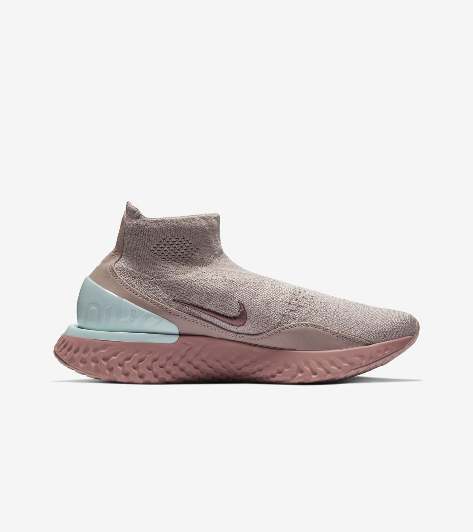 Women's Nike Rise React Flyknit 'Diffused Taupe & Teal Tint' Release Date