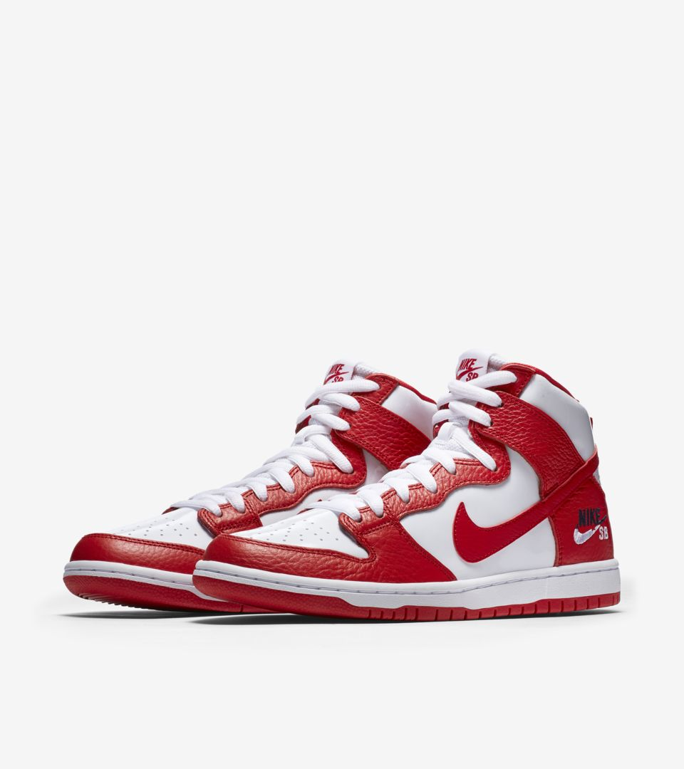 buy popular 025db b2bb9 Nike SB Dunk High Pro 'University Red & White' Release Date ...