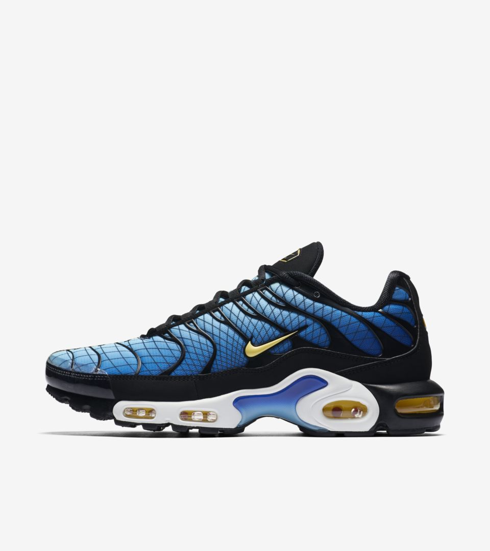 Nike Air Max Plus 'Black & Tour Yellow & Team Orange' Release Date